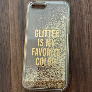 Kate spade phone filled with glitter